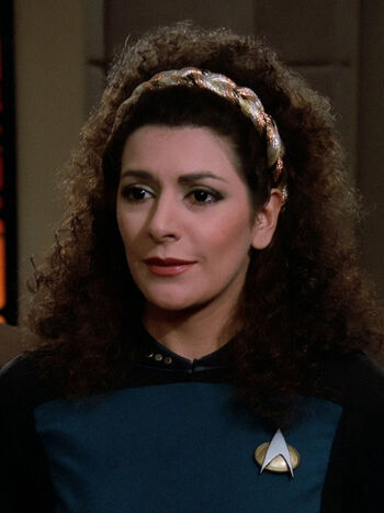 "Lt. Commander Deanna Troi in <a href=""/wiki/2364"" title=""2364"">2364</a>"
