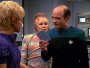 Kes, Neelix, and The Doctor, 2371