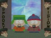 Kyle und Stan aus dem Spiegeluniversum