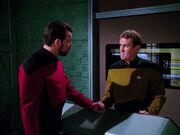 Riker questions O'Brien