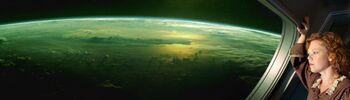 Skagaran colony planet from orbit