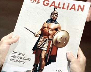 Claudius Marcus on the cover of The Gallian