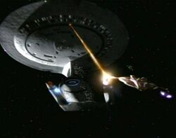 USS Odyssey firing phasers