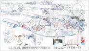 AMT 1995 30th anniversary cutaway poster USS Enterprise-D