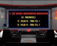 DVD-Menü TOS Staffel 1 Disc 3
