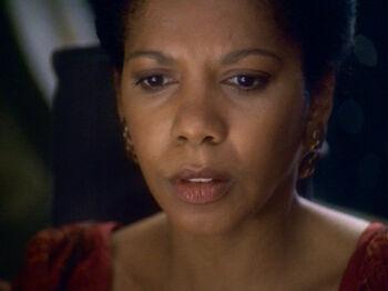 """Kasidy Sisko in <a href=""""/wiki/2375"""" title=""""2375"""">2375</a>"""
