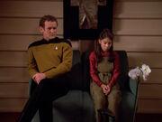 Miles O'Brien hat Probleme mit seiner jungen Frau