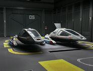 Class 2 shuttles in Intrepid class hangar