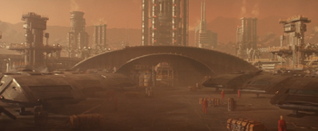 Tri-hy station A19, a ground based facility in 2385