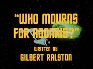 2x04 Who Mourns for Adonais? title card