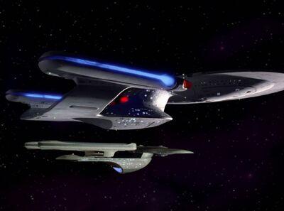 Excelsior-Klasse neben Enterprise-D