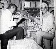 Gene Roddenberry and Jesco von Puttkamer
