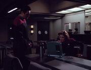 Janeway und Chakotay sprechen über Seven