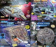Playmates USS Defiant DS9 and Borg Vessels