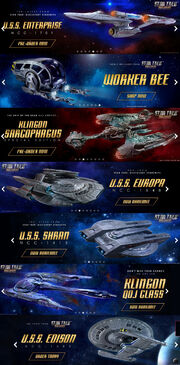 Star Trek Discovery Official Starships Collection banners