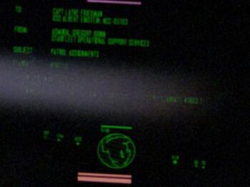 Layne Friedman on a Starfleet Command order