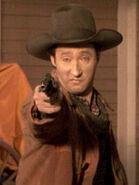 Cowboy mit Datas Gesicht