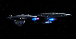 Excelsior starboard of Galaxy