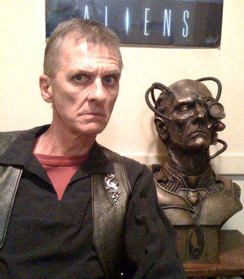 "Mark Major in 2009 with his <a href=""/wiki/Borg"" title=""Borg"">Borg</a> bust"