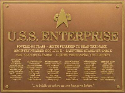 Raumschiffsammlung Widmungsplakette Enterprise (NCC-1701-E)