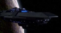 Upgraded Delta Rana warship