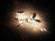 Explosion des Borg-Kubus