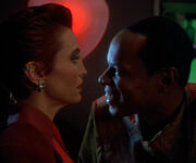 Kira and mirror Sisko in Quarks