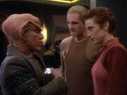 Kira und Odo wollen Quarks Hilfe