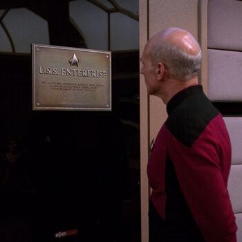 USS <i>Enterprise</i>-D dedication plaque (2363)