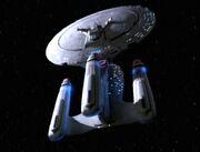 Enterprise-D in alternativer Zeitlinie