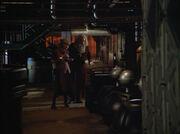 Janeway and da vinci inside the storage facility