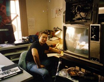 ...at work in the <i>Deep Space Nine</i> art department in the early stages as production illustrator.