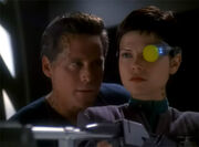 Joran encourages Ezri to pull trigger