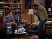 Sheldon und Leonard spielen 3D-Schach
