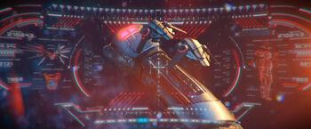 Traje temporal brazo drones Gabrielle Burnham perdida en el futuro DIS Perpetual Infinity