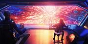 USS Discovery viewscreen mycelial network