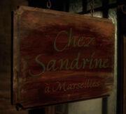 Chez sandrine sign