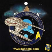 Eaglemoss Fansets USS Shenzhou pin packaged