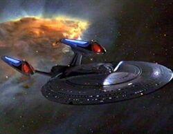 Sovereign class enterprise 1701-E nebula bckgrnd