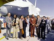 Space shuttle Enterprise und Star Trek