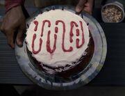 Die Tarnfrequenz der Ba'Neth auf einem Kuchen