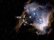 Enterprise fliegt auf Nebel zu - TOS-Finale