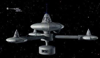 IKS <i>Gr'oth</i> orbiting Deep Space K-7