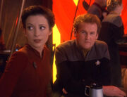 Kira Nerys and Miles O'Brien, 2373