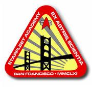 Logo oficial de la Academia de la Flota estelar, circa 2370