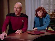 Picard und Crusher auf Aldea