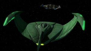 Romulan bird-of-prey, ENT-aft