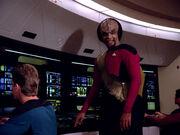Worf erblickt einen Targ