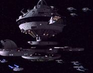 Federation starbase patrolled by Federation starships