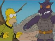 Homer vs the Gorn